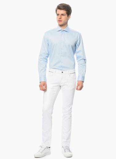 George Hogg Uzun Kollu Gömlek Mavi